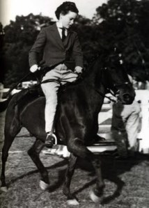 Gloria riding her pet horse a/k/a G. Photo courtesy of Everything Anderson