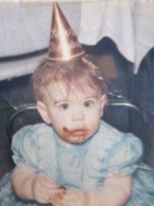 1 year-old Lisa knew how to celebrate!
